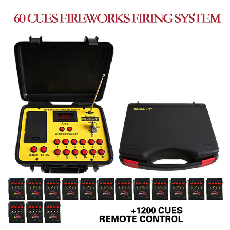 60 cues Wireless Fireworks Firing system remote control fire control equipment
