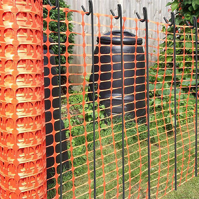 Summer Event, Fete, Safety Orange Barrier Mesh Fencing - 5.5kg + 20 Metal Pins