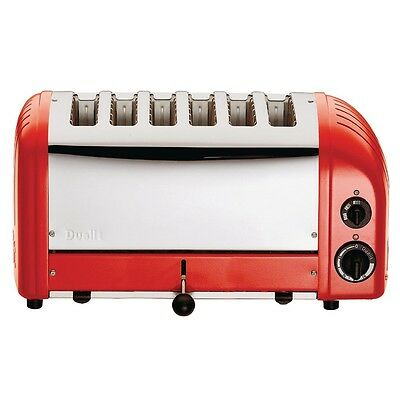 Dualit 6 Slice Vario Toaster Red 60154 EBGD395-A
