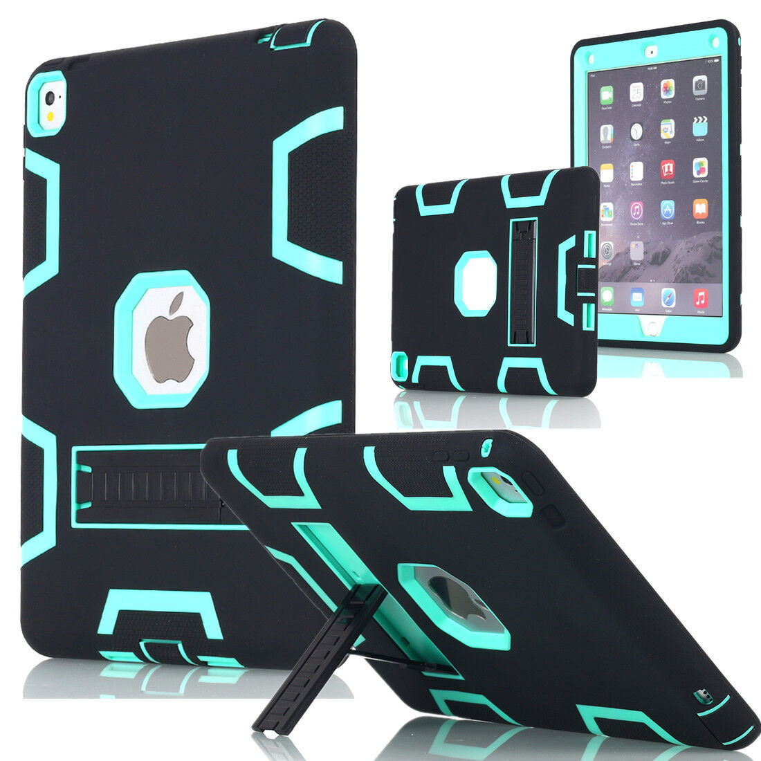 Heavy Duty Hybrid Shockproof Hard Case Cover Rubber Stand Fo