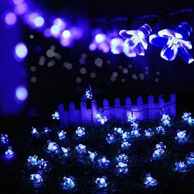 Solar Power Cherry Flower LED Lights Garden Lamp Yard Outdoor Decor Xmas Light