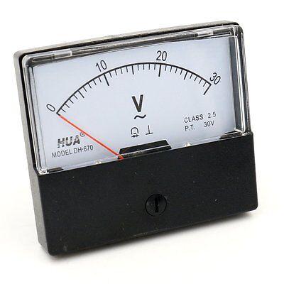 Analog Panel Volt Meter Dh-670 Ac 0-30v Rectangular Class 2.5 Voltmeter