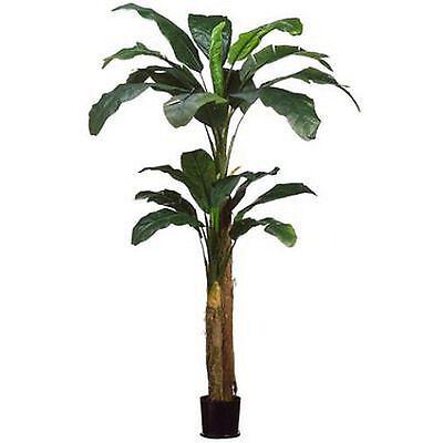 8' DOUBLE BANANA PALM ARTIFICIAL TREE PLANT POT ARRANGEMENT FLOWER FLORAL BUSH (Artificial Banana Tree)