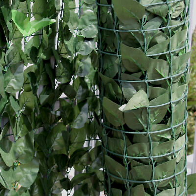 X2 Artificial Hedge Ivy Leaf Garden Fence Privacy Screening Balcony Green Wall