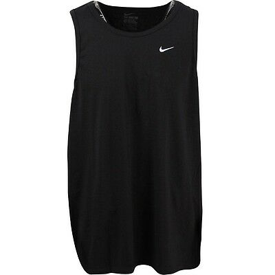 $22.00 707365-010 Nike Men Embroidered Swoosh Tank Top (black / white)