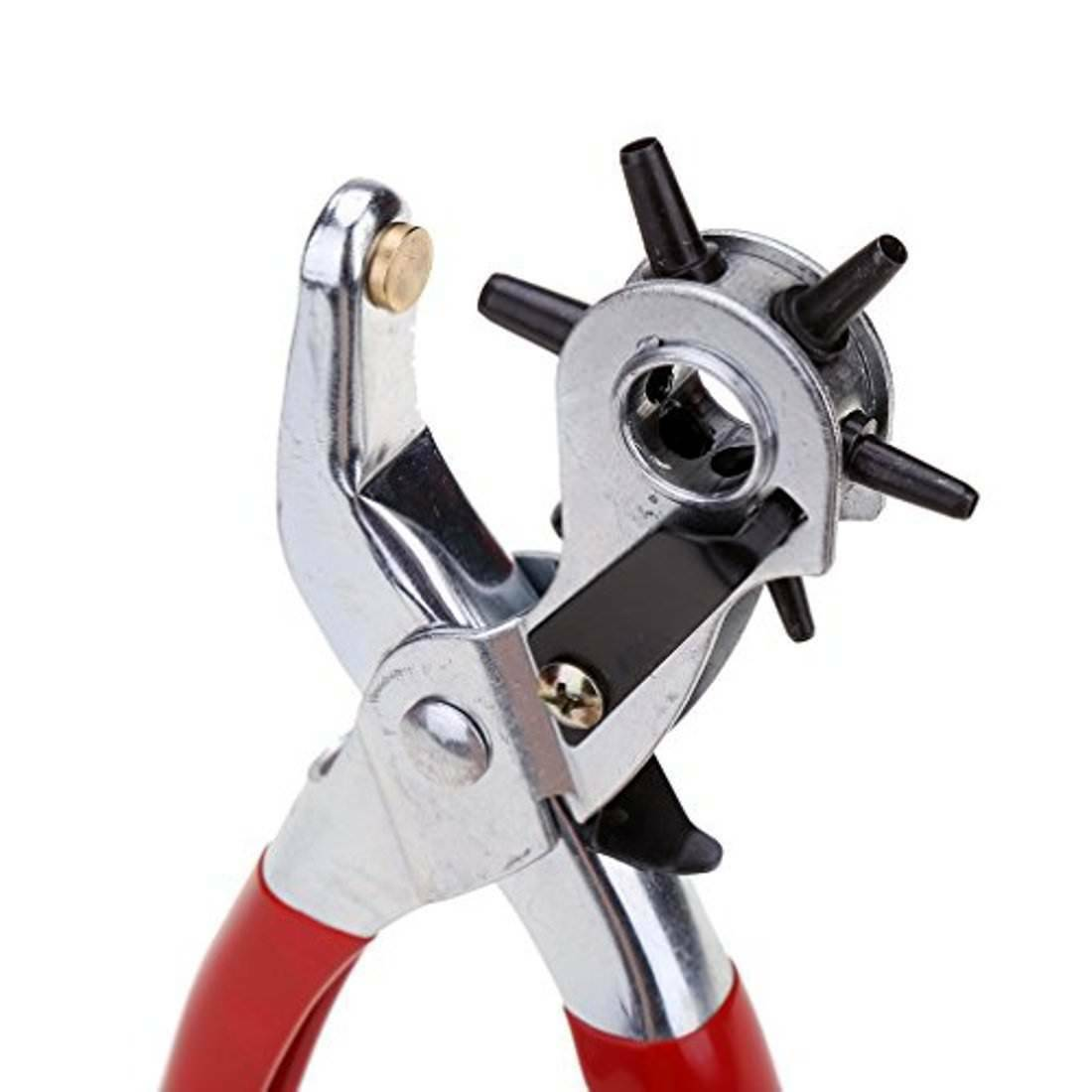 6 Sized 9″ Heavy Duty Leather Hole Punch Hand Pliers Belt Holes Punches Crafts