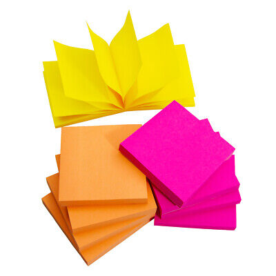 3m Post-it Pop-up Sticky Notes 3x3 Inch 90 Sheet Pads For Dispensers Neon Colors