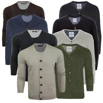 $158 Mens CALI HOLI Cable Knit Shawl Collar Cardigan Sweater Navy