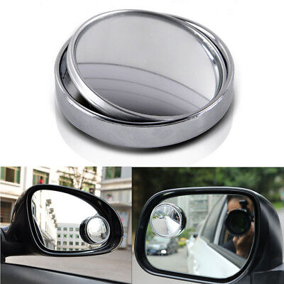 (80mm Dia Adjustable Convex Round Car Side Wide Angle Rearview Blind Spot Mirrors)