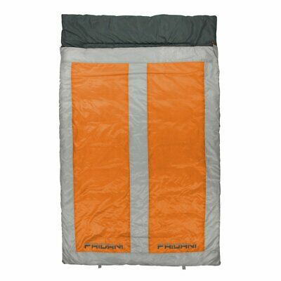 Saco de Dormir para 2 personas 225x140 Doble Manta Naranja -22°C cálido...
