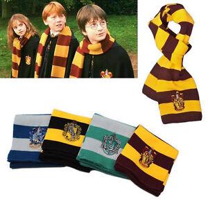Harry-Potter-Scarf-Gryffindor-Slytherin-Hufflepuff-Ravenclaw-Winter-Warm-Scarves