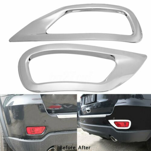 Liquor Car New For Jeep Compass 2011-2016 2012 2013 2014 2015 Pair 2 Pieces ABS Rear Fog Lamp Light Foglight Foglamp Cover Molding Trim Set