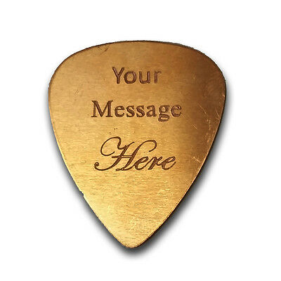 Personalized Custom Engraved Guitar Bass Pick Customizable Gift COPPER New