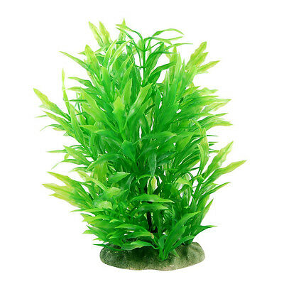 "8.0"" Tall  Artificial Water Plant Decoration for Fish Tank, Green"