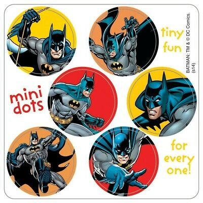 120 Batman Mini Dot STICKERS Party Favors Birthday Supplies for Treat Loot Bags](Batman Party Bags)