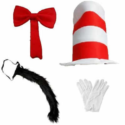 Adult Kids Movie Cosplay Dress up Cat Hat In The Hat Seuss Book Day Character](Kids Book Character Dress Up)
