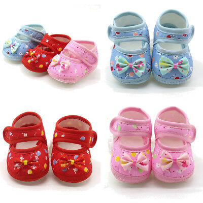 Newborn Infant Baby Girl Casual Soft Sole Prewalker Cotton Warm Prewalker (China Flat)