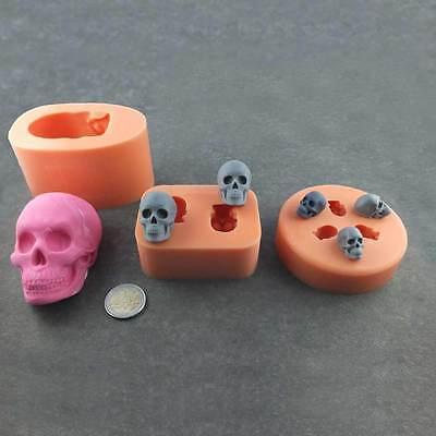 Silikonform Totenkopf Skull Schädel Halloween Silikon Mould Fondant (Totenkopf Halloween)