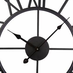 PeleusTech Wall Clock, 20-inch Dia Large Iron Metal Vintage Retro Indoor Wall