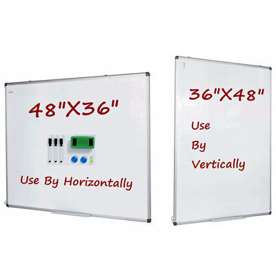 Vertical Compatible Dry Erase Board Magnetic Markers Whiteboard 48