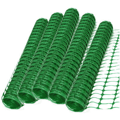 5 x 50m Roll 5.5kg Green Plastic Barrier Mesh Fence Safety Events Garden Project