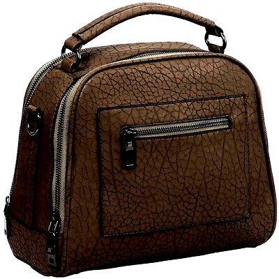 Women Leather Bag Handbag Shoulder Messenger Purse Satchel Crossbody Tote Brown