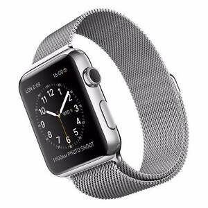 Apple Watch 42mm Stainless Steel Case with Milanese Loop Band Wolli Creek Rockdale Area Preview