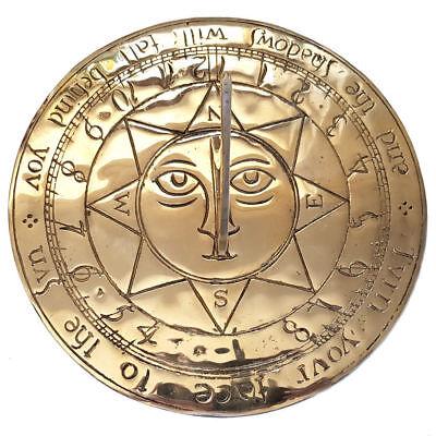 Brass Sundial - Large Sun Face Brass Sundial - Garden Sundial