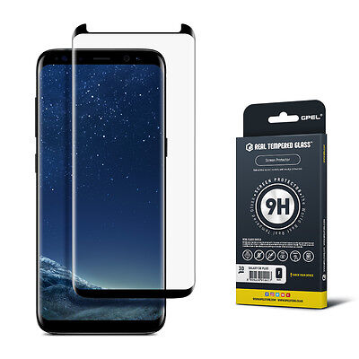 Galaxy S8 Plus Screen Protector Tempered Glass 3D Curved  Case Friendly    Gpel