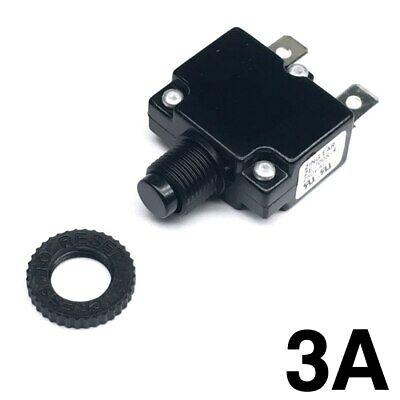 New 3 Amp Miniature Push Button Thermal Circuit Breaker 12-50v Dc 125-250v Ac