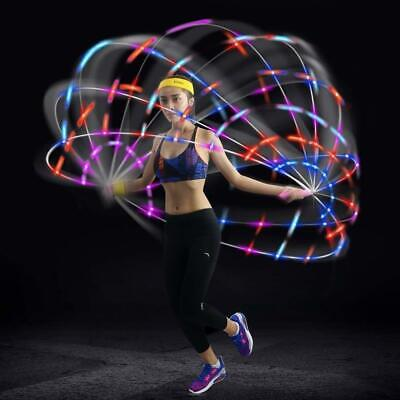 Led Fun Jump Rope Light Up - Fitness Adjustable Flashing Color Change Kids Adult (Adult Jump Rope)