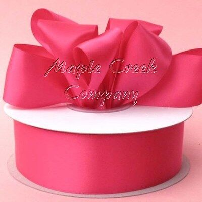 Double Face SHOCKING PINK 100% Polyester Satin Ribbon Assorted -