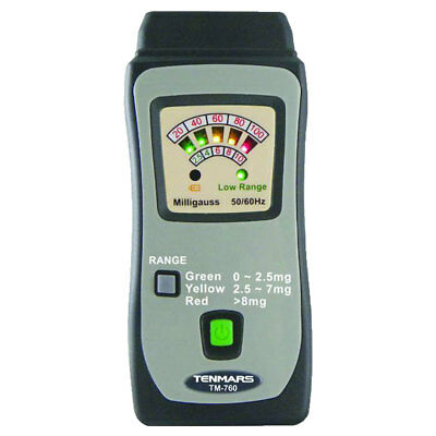 Tenmars Tm-760 Mini Emf Elf Electric Magnetic Field Gauss Meter Tester