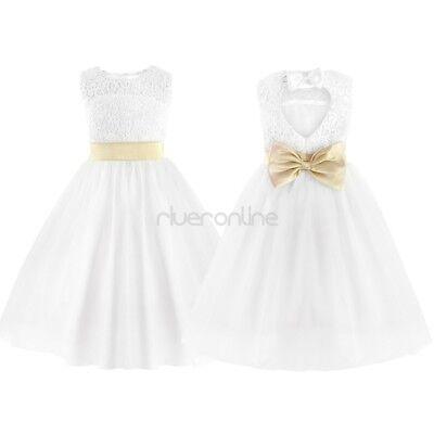 Madchen Kinder Festlich Kleider Blumenmadchen Kleid Gr 92 104 116 128 140 152 Ebay
