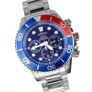 Solar Powered Mens Chronograph Stainle