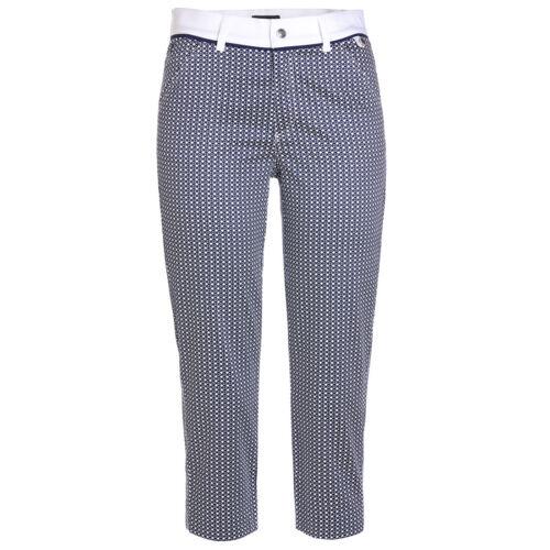 NWT Golfino Ladies Printed Stretch Capri Slim 8260922 575 Blue Sz 2 4 6 8 NEW