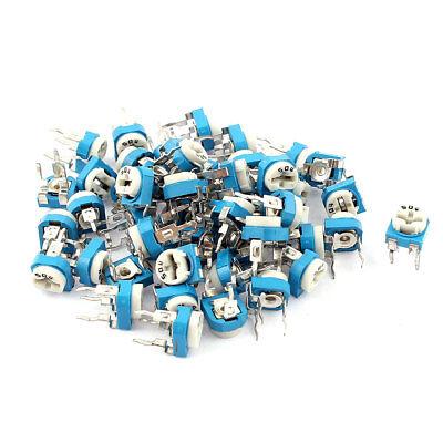 50pcs 500k Ohm Vertical Pcb Preset Variable Resistor Trimmer Potentiometer Blue