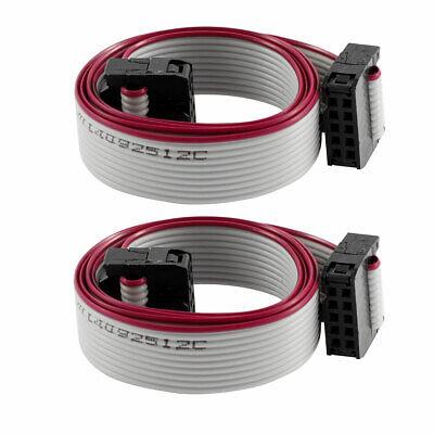 2Pcs Cable de cinta plana para placa base IDC 50cm 10Pin cable...