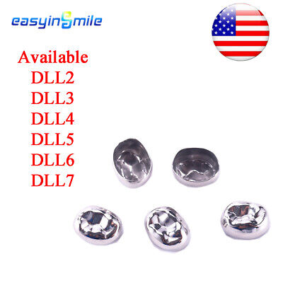 5pcs Dental Stainless Steel Permanent Molar Crowns Lower Left Type 6 Size Option