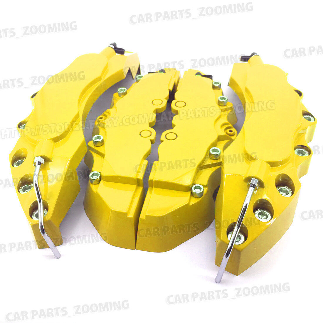 4x Yellow Style Brake Caliper Covers Universal Car Disc Front Rear Kits L+M LW02