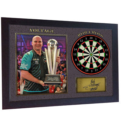 Rob Cross autograph Voltage signed poster photo print Darts FRAMED