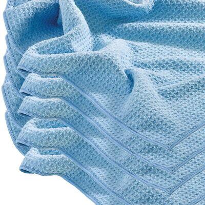 5 x Mega Clean Mikrofasertuch Wassermagnet Waffeltuch blau 50 x 70 cm
