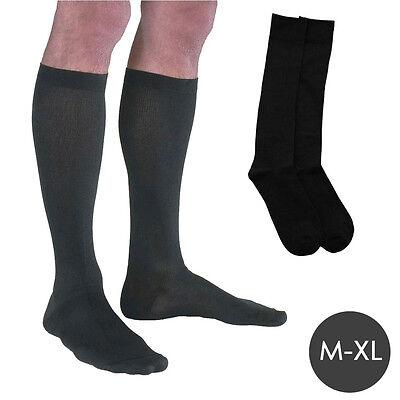 M-XL 1 Pair Mens Ladies Flight Travel Socks Comfy Safe Dvt Compression Knee High