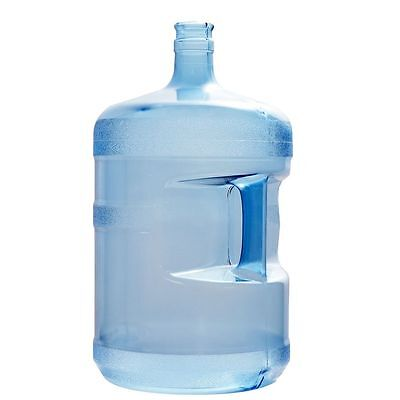 5 Gallon BPA Free 55mm Plastic Water Bottle (Crown Top) with 1 Dew Cap