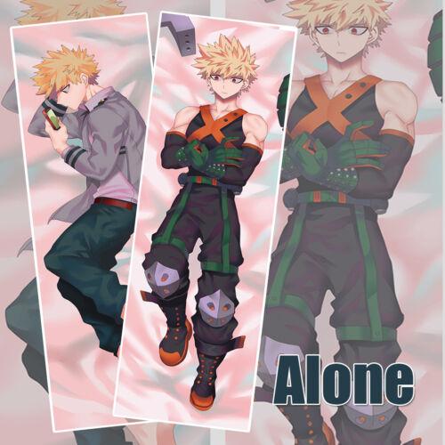 Anime My Hero Academia Bakugo Rubber Dakimakura Body Pillow Case Cover 59/'/'