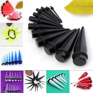 Acrylic-Gauge-Taper-Spike-Ear-Plug-Flesh-Tunnels-Stretcher-Expander-Kit-Piercing