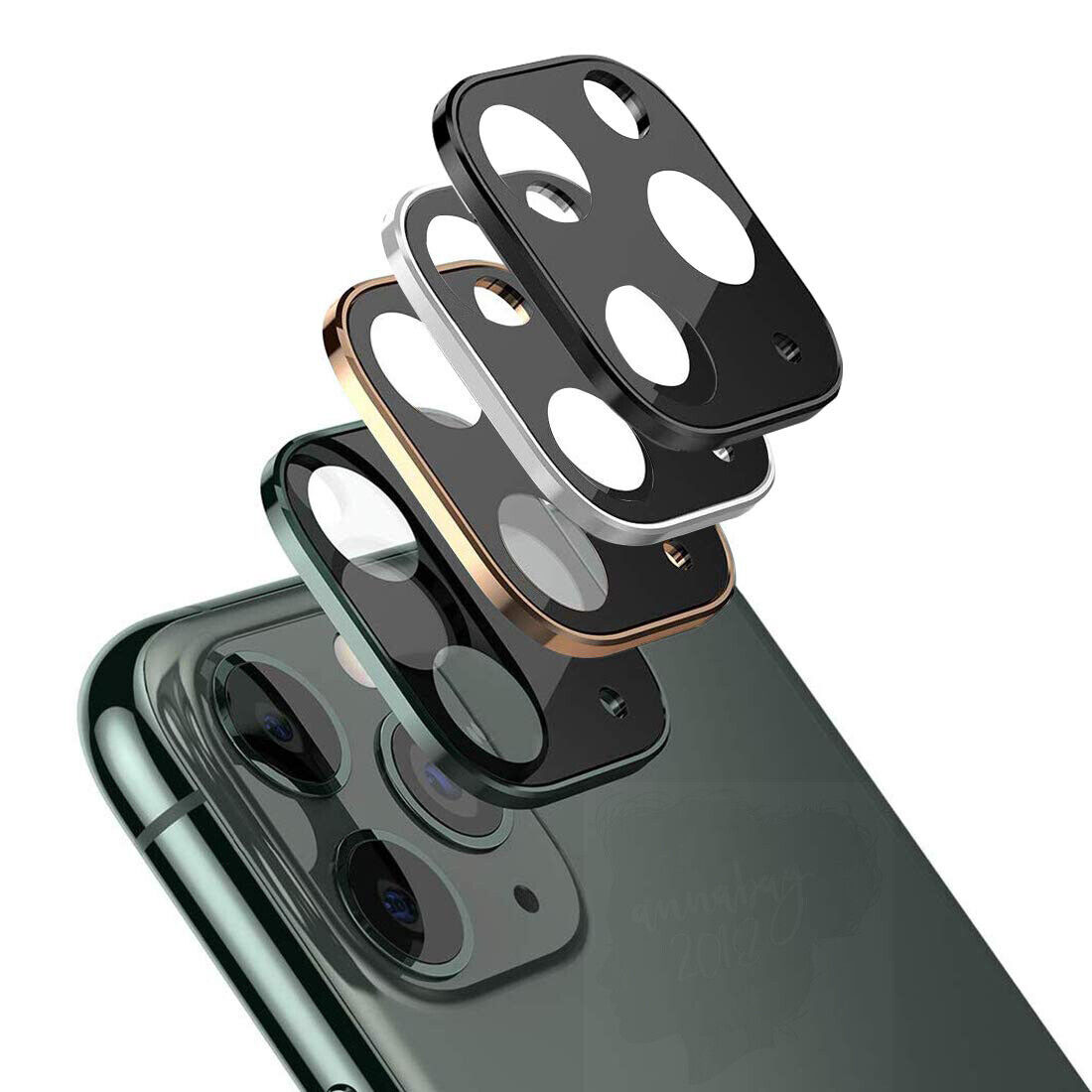 For iPhone 11 / 11 Pro Max FULL COVER 20D Tempered Glass Camera Lens Protector