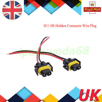 2X H11 H8 Bulb Holders Connector Wire Plug Fit For Fog Light or HeadLight 9CM