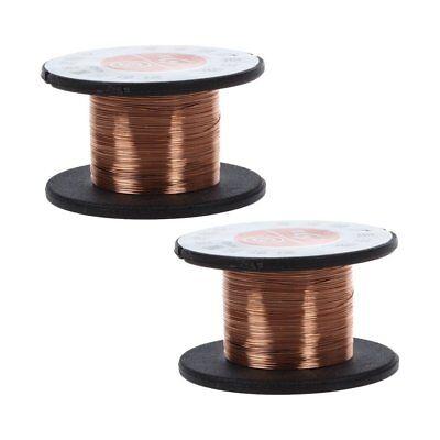 2pcs 0.1mm Weld Copper Soldering Solder Ppa Enamelled Reel Wire