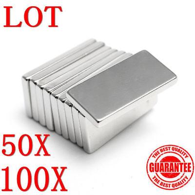 N50 100pcs Neodymium Block Magnet 20x10x2mm Super Strong Rare Earth Magnets Ls